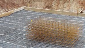 Bodenplatte Beschalung